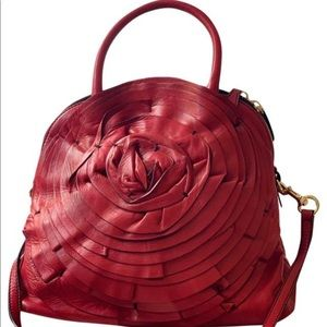 NWT Valentino Red Calfskin Leather Bag